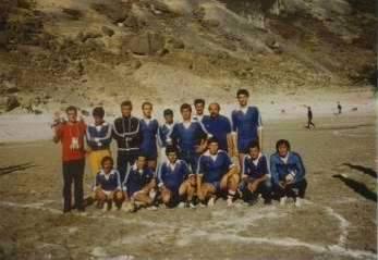 Soccer match in Modro Jezero
